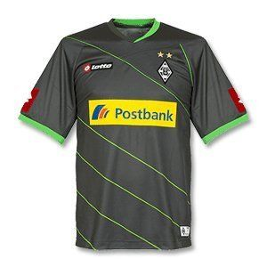 Borussia Monchengladbach Trikot Away 2013 by Lotto. $62.19. Team: Borussia Monchengladbach. Categories: Kits. Collection: Away. Borussia Monchengladbach Shirt Away 2013, Lotto official licensed product, 100% Polyester Team: Borussia Monchengladbach Sponsor: Postbank Colour: black Manufacturer: Lotto Material: 100% Polyester