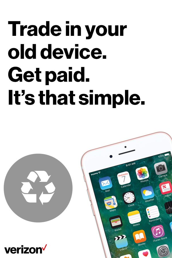 Trade in your phone by giving it to a family member. You can add a line or use it as an upgrade for somebody already on your Verizon Plan.