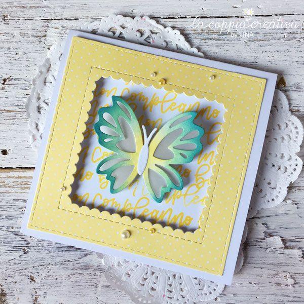 Farfalla che balla?….Si, credo che possiamo dirlo anche cosi  !!! Si tratta di una card dove la farfalla comincia a girare appena la card si apre. Ecco video dimostrativo…al inizio potete vedere come funziona l`idea…se vogliamo che la farfalla comincia a girare quando `la nostra persona` apre la card,dobbiamo girarla noi prima di chiudere …