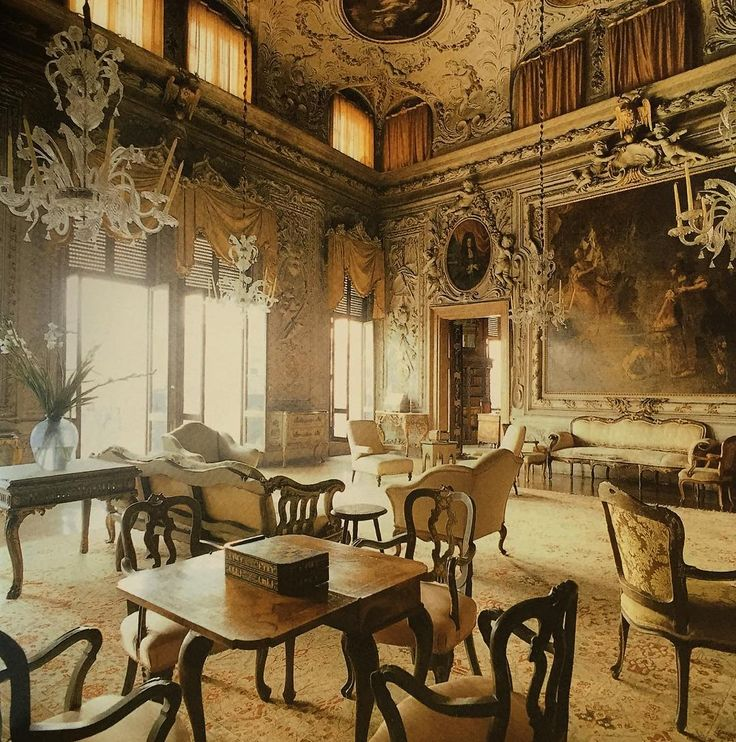 """""""INSPIRATIONAL INTERIORS: Palazzo Barbaro in Venice is actually two structures. The original, typically Venetian gothic building was constructed in the…"""""""