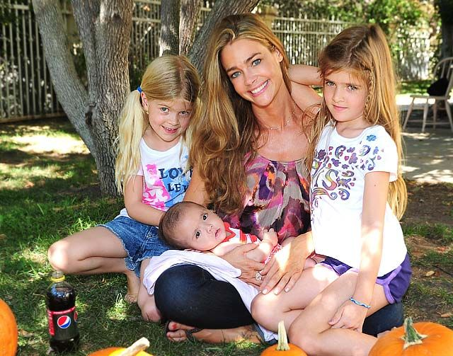 Denise Richards, Lola, Sam and Eloise  The actress and her girls got into the Halloween spirit during a Los Angeles X Factor viewing party in October 2011.