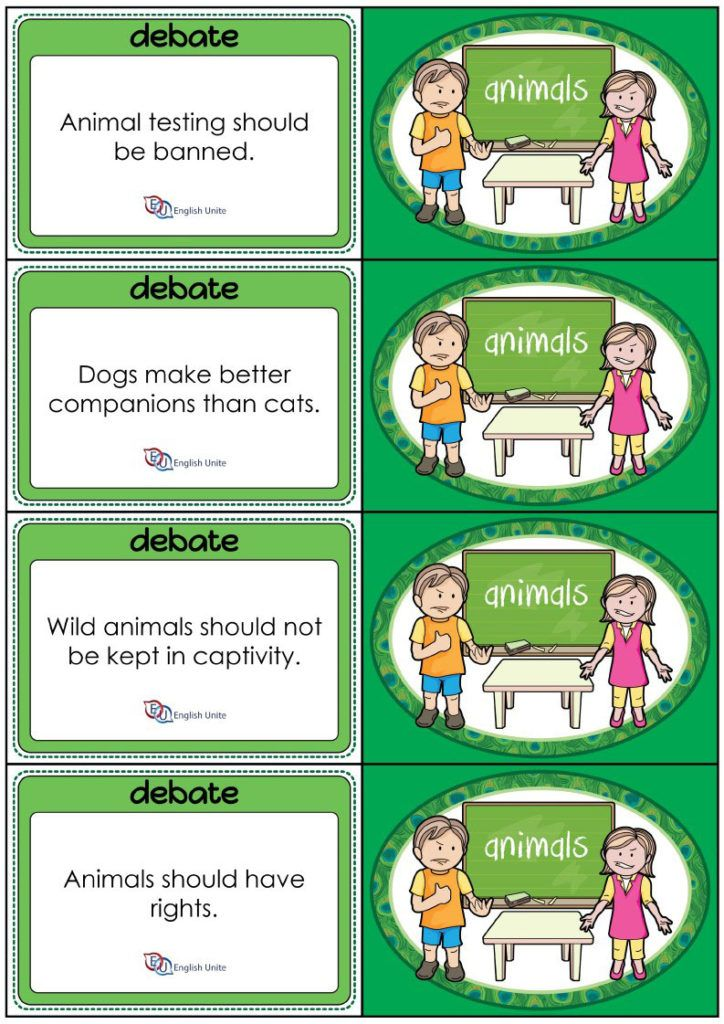Debate Format and Planning Worksheets English Unite