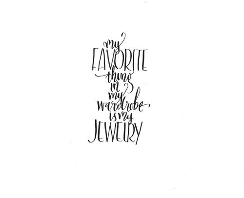 Jewelry lovers' favorite thing ;)                                                                                                                                                                                 More