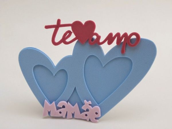Lembrancinha Dia das Mães Evangélicas porta bilhete no formato de rosa