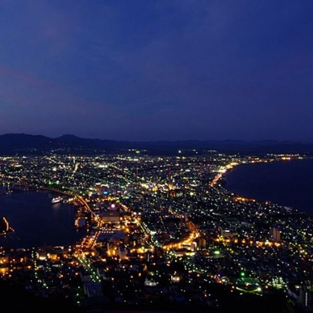 Night view of Hakodate in Hokkaido, Japan.