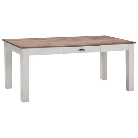 Providore Dining Table 180x90cm Natural/White
