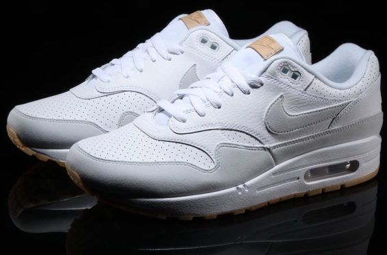 a855e58241f A White Leather Upper And Gum Bottom Combine On This Nike Air Max 1 •  KicksOnFire