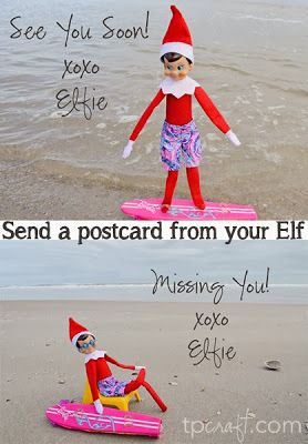 Elf on the Shelf Postcards. She has a lot of pictures on her page for free download with no watermark :-) They are awesome!!!