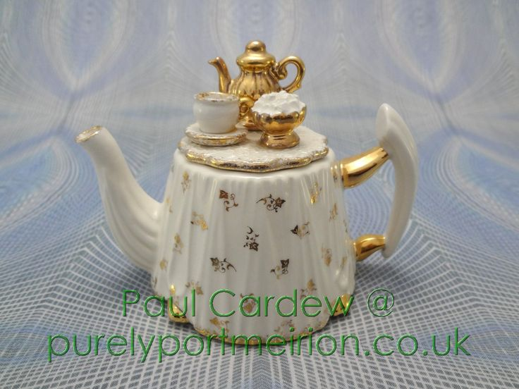 Paul Cardew Design Small Victorian Table, Gold Service Teapot