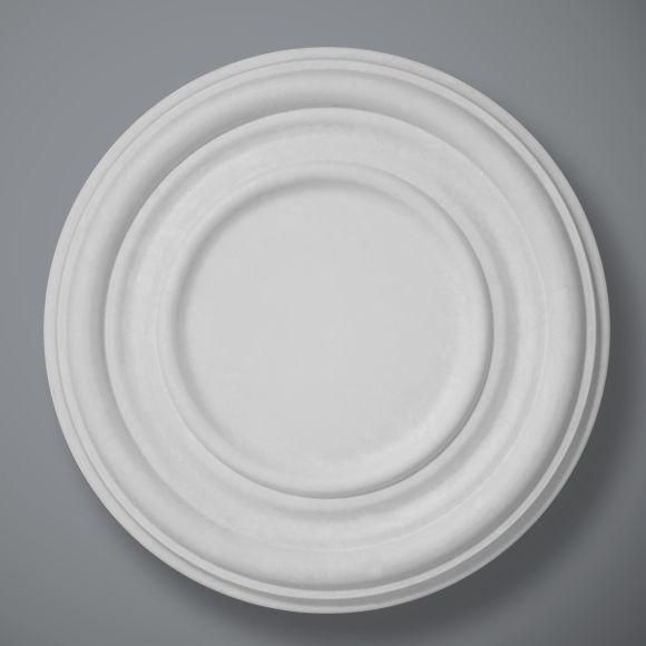 CP55 is a popular and pleasing plain plaster ceiling rose with a large centre section perfect for any chandelier or light fitting.  The Ovala design is available in 2 different sizes, see CP56 for the large version.  Dimensions:-  Diameter:- 450mm  The plain centre section:-215mm.  Depth:-34mm.