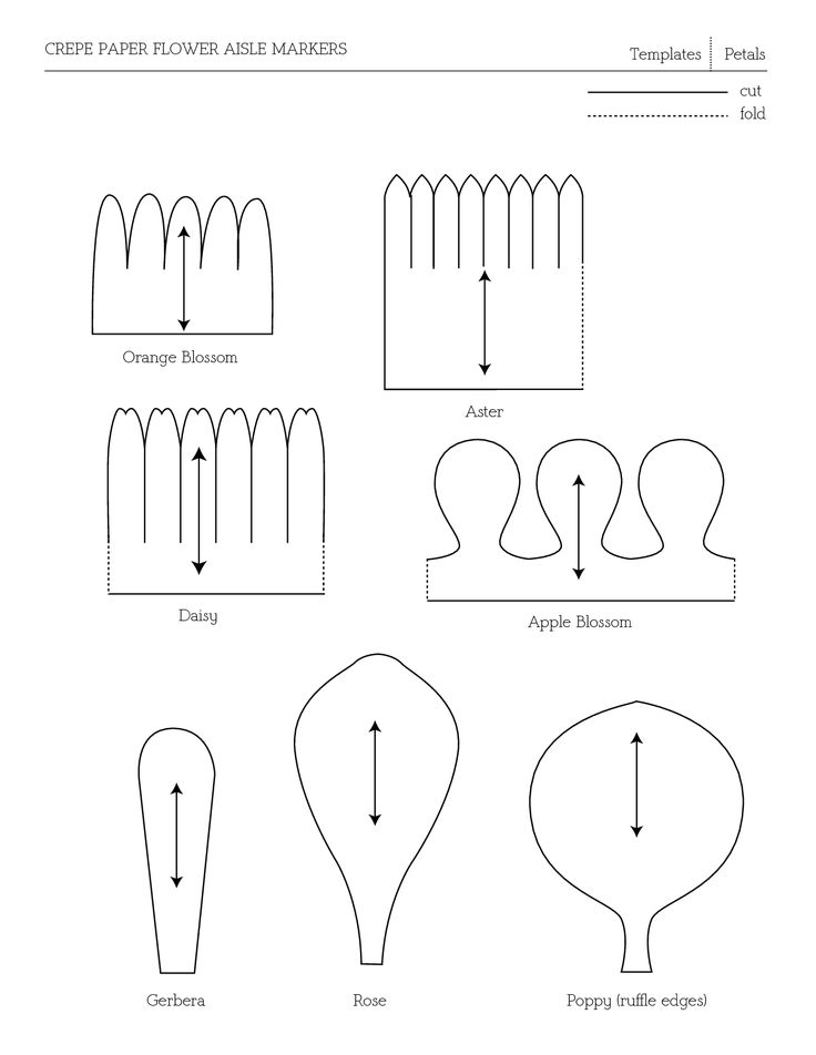 templates | Paper Flower Templates