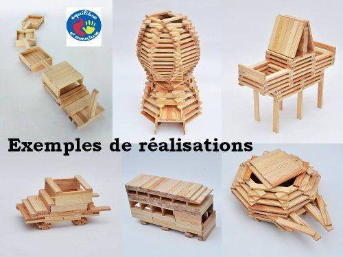 17 meilleures idéesà propos de Kapla sur Pinterest Modele kapla, Jeux construction et Jeux  # Jeux De Construction En Bois Gratuit