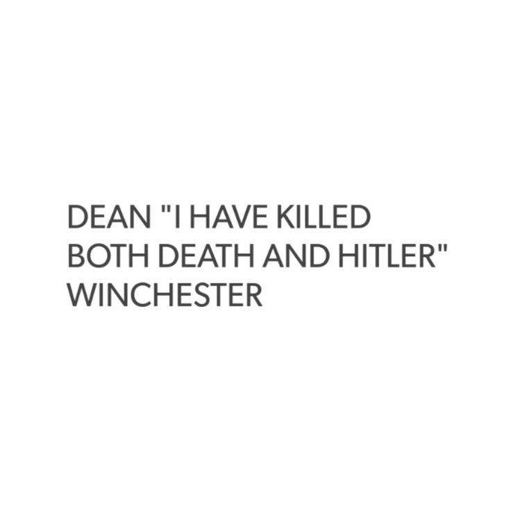 supernatural tumblr textpost dean winchester