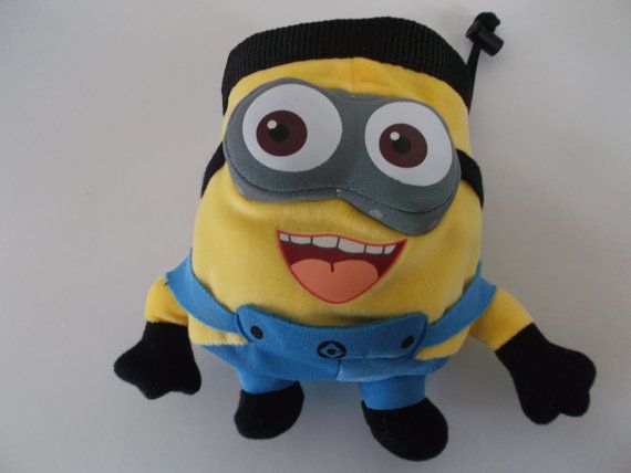 Two Eyed Minion Rock Climbing Chalk Bag made from a