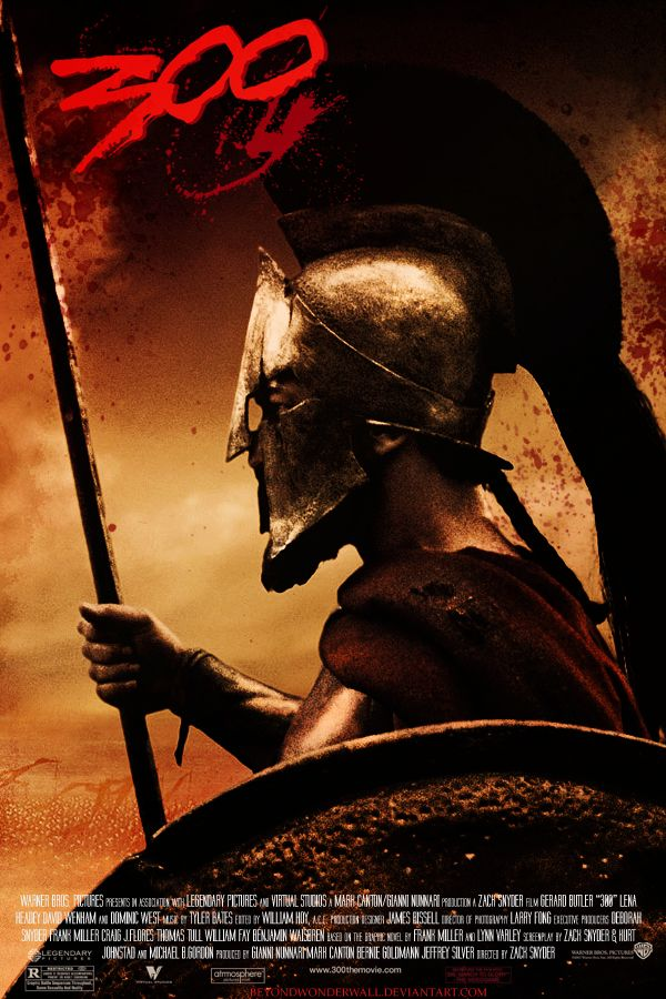 King Leonidas and a force of 300 men fight the Persians at Thermopylae in 480 B.C.