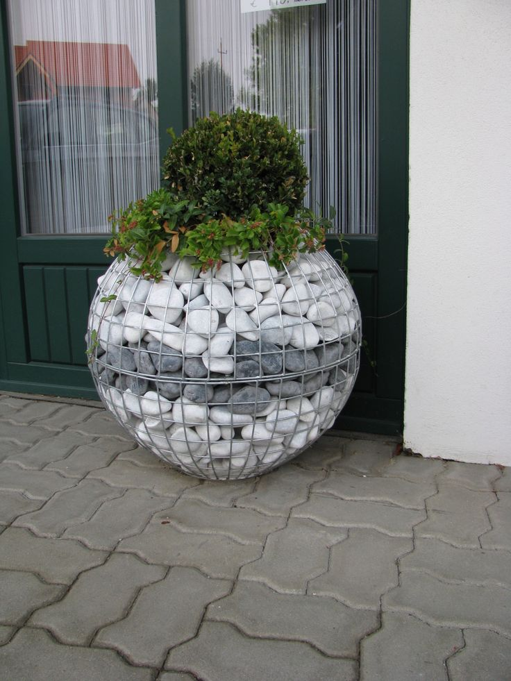 gabion ball draht und steine gabionen hausler e k garten pinterest gardens garden. Black Bedroom Furniture Sets. Home Design Ideas