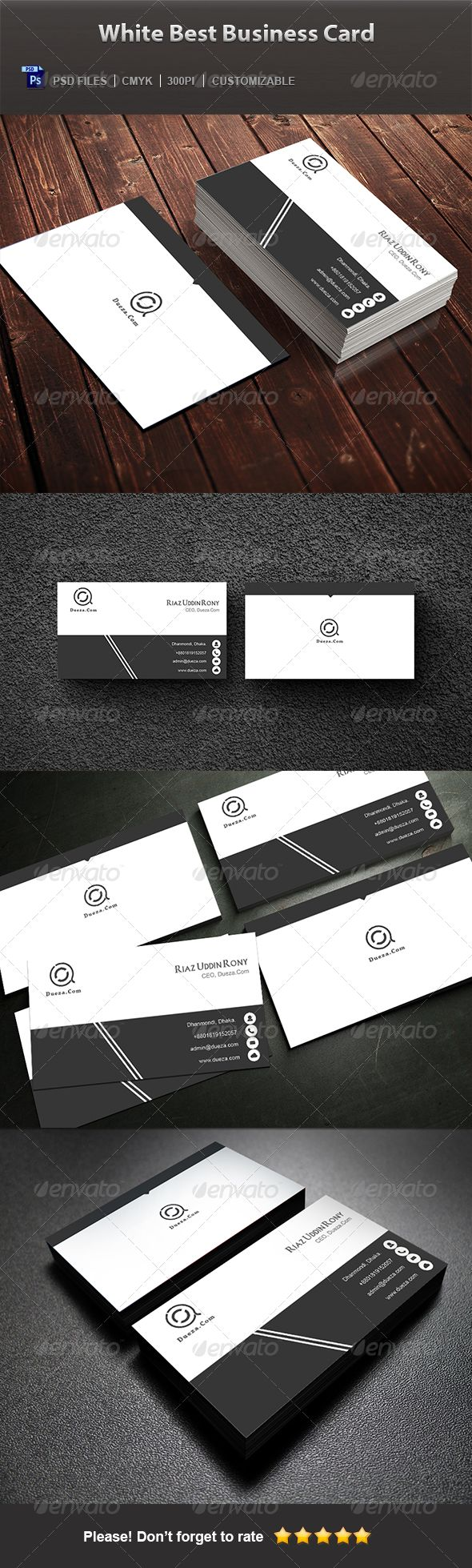 51 best blog for modern creative business card design images on white best business card magicingreecefo Gallery