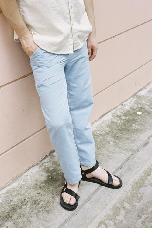 Seeker x Retriever Sustainable Handmade Fashion Pants Signature Classic Trousers: Sky