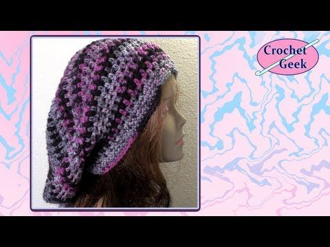 How to make a very slouchy  Bob Marley Crochet Slouch Cap Crochet Geek