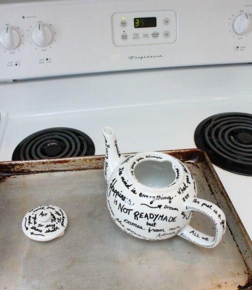 Quote Tea Pot Bake to Set at The Happy Housie