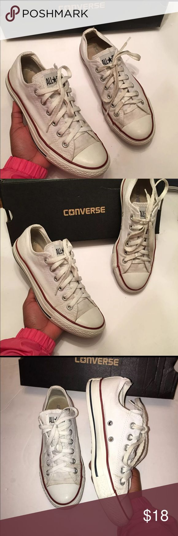 White low top converse White low top converse that are washed and well taken care of very comfortable too Converse Shoes Sneakers