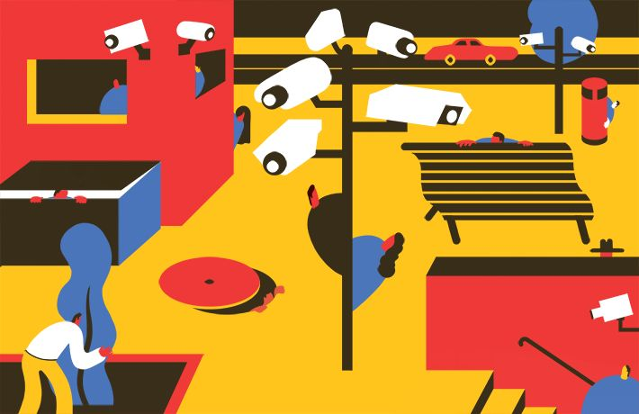 Magoz illustration - Life under surveillance