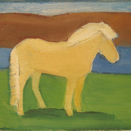 Blonde horse, Louisa Matthíasdóttir. Would look amazing at my place ;)