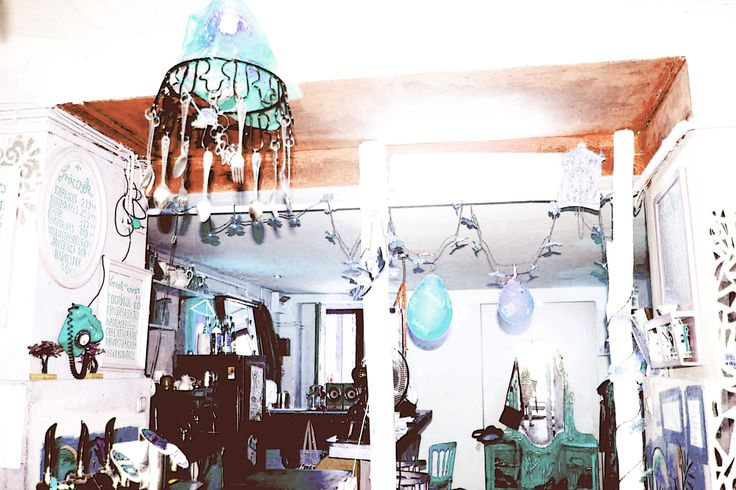 the interior of the fashion store