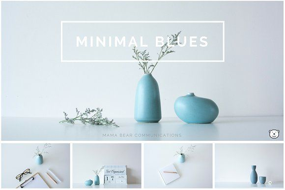 Styled Stock Photos | Minimal Blues by mamabearcomms on @creativemarket. These images are perfect for graphic designers, bloggers, marketers, small business owners and creative entrepreneurs.