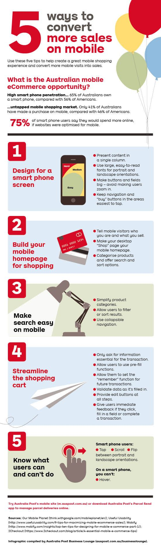 BL329 - Infographic: five ways to get more sales on mobile