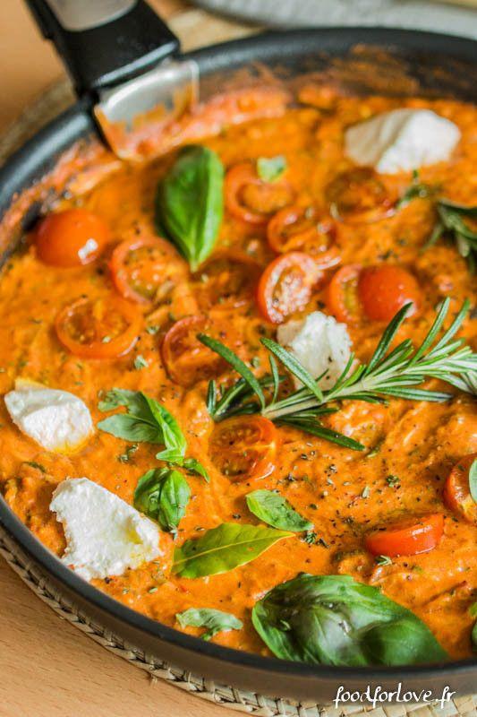 sauce tomate ricotta courgette