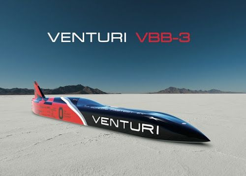 Record mundial: el vehículo eléctrico VBB-3 de Venturi alcanza los 576 km/h   Hoy en el blog de César Hinojosa Quiroz hablaremos dl vehícu...