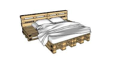 Wooden pallet bed. Must be made in King size, with night stands on both sides. L O V E ! ! ! . W A N T ! ! !