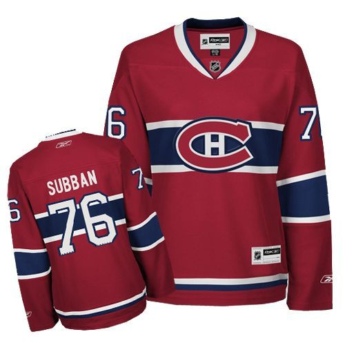 P.K Subban Jersey-Buy 100% official Reebok P.K Subban Women's Authentic Red Jersey NHL Montreal Canadiens #76 Home Free Shipping.