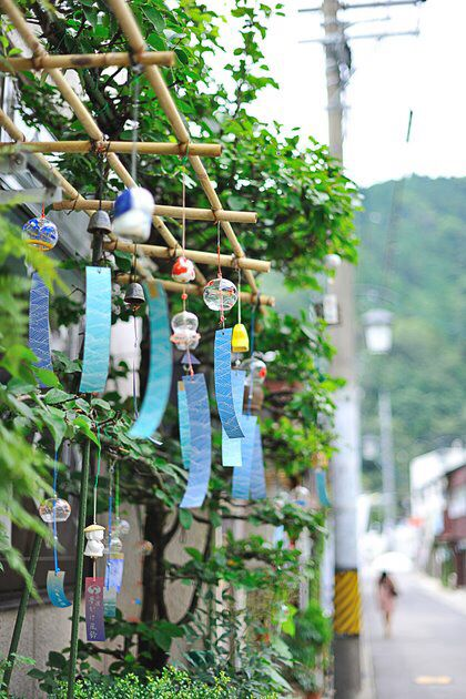 Furin japanese wind chime.  Summer sound