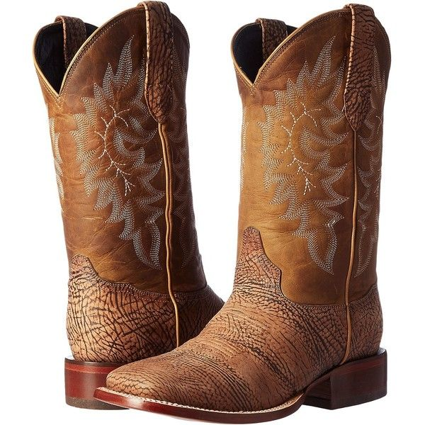 Stetson Shield (Tan Bull) Men's Boots ($195) ❤ liked on Polyvore featuring men's fashion, men's shoes, men's boots, brown, mens western boots, mens boots, mens tan shoes, mens rugged boots and mens brown shoes