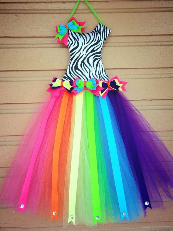 Tutu Bow Holder - Rainbow - Pick your Size - Personalized for Free