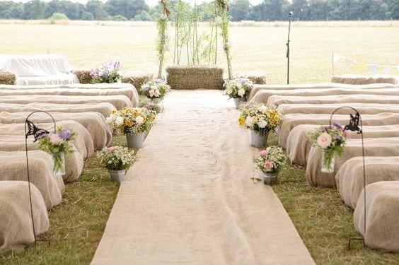 hay bales - Read more on One Fab Day: http://onefabday.com/barn-wedding-by-dasha-caffrey/