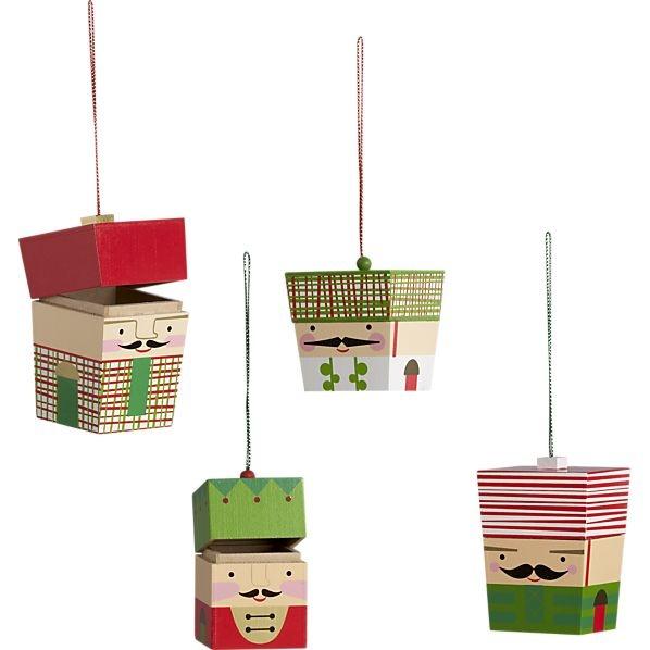 Nutcracker Box Ornaments - cutest!Nutcrackers Boxes, Little Boxes, Pickles Ornaments, Christmas Nutcrackers, Nutcrackers Christmas, Boxes Ornaments, Seasons Christmas, Christmase Winte, Christmas Ornaments