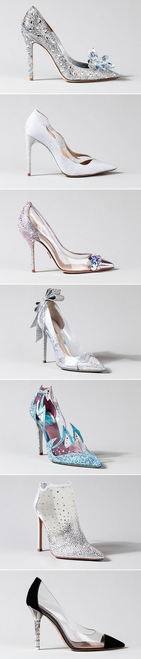 15 Stunning Cinderella-Inspired Wedding Shoes - The Glass Slipper Project: Cinderella-Inspired Designer Shoes #weddingshoes