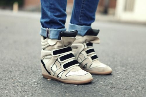 isabel marant: Shoes, Isabelmarant, Marant Sneakers, Fashion, High Tops, Street Style, Isabel Marant, Wedge Sneakers