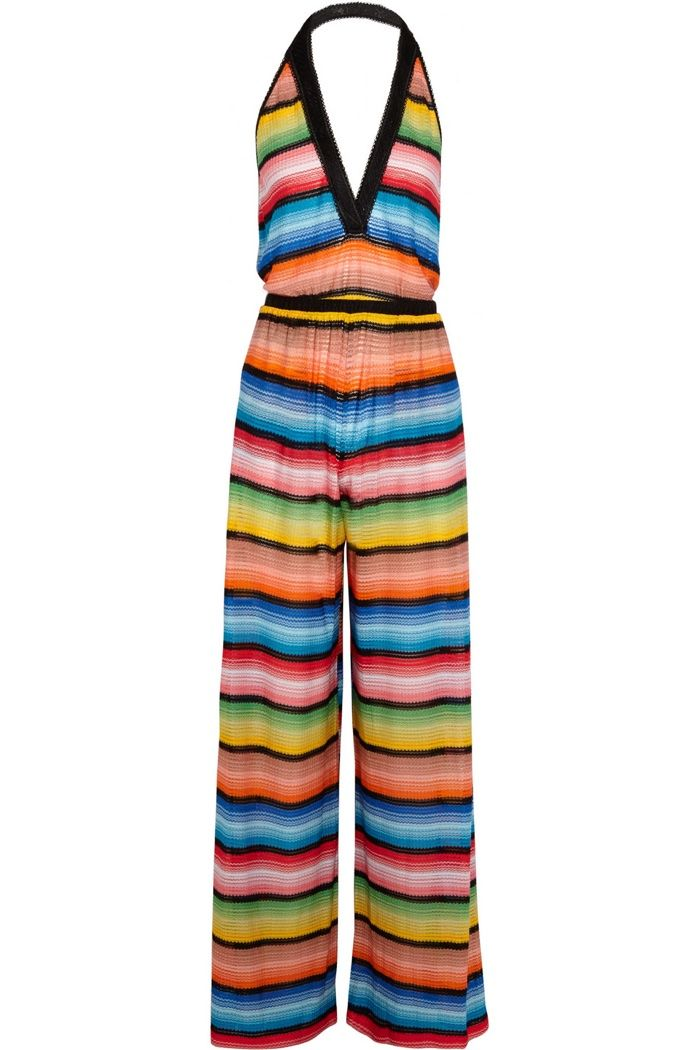 Missoni Crochet Knit Halterneck Jumpsuit