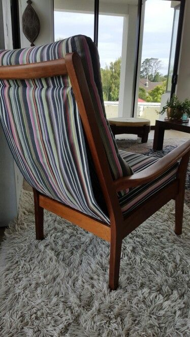 Back view of Mid Century chair.