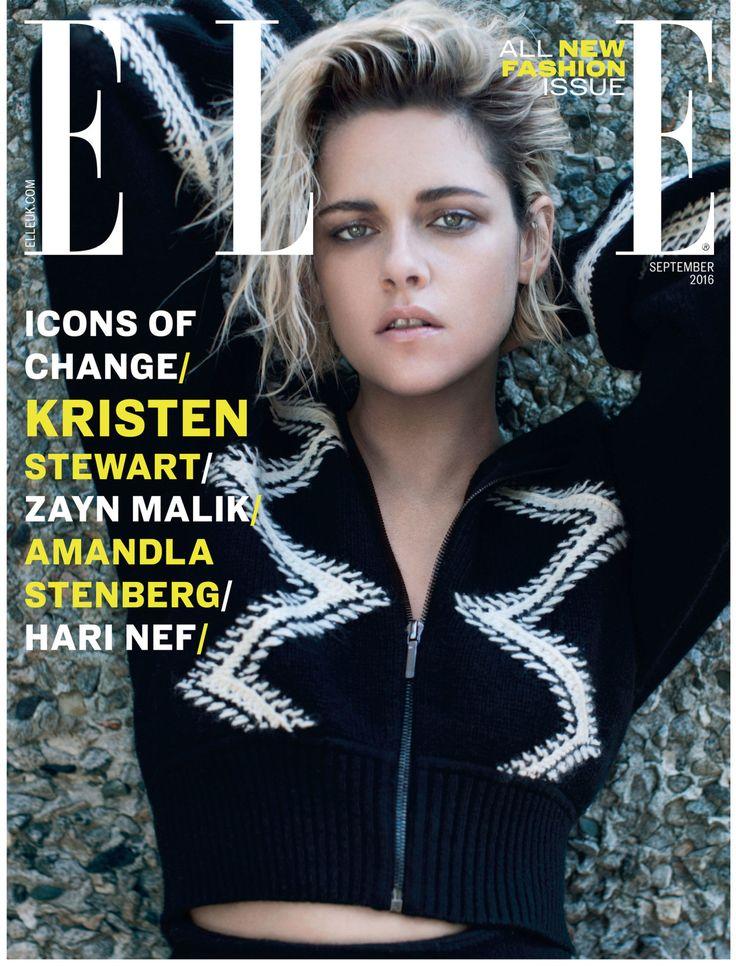 Kristen Stewart by Liz Collins for ELLE UK September 2016 Cover - Chanel