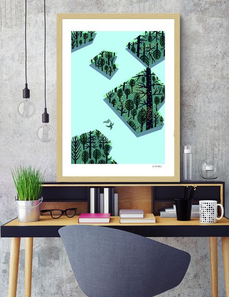 Discover «Chasing fireflies / A caccia di lucciole», Limited Edition Fine Art Print by Corinne Zanette - From 39€ - Curioos