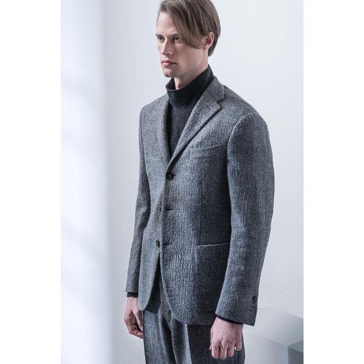 Innovation, heritage and quality. #Degas is in soft textured virgin wool gauze. #Colin turtleneck sweater is in wool. #Tonga pant is in light virgin wool gauze. - #THEGIGI #gigiboglioli #menswear #mensstyle #dontlookback
