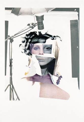 Richard Hamilton - 'Fashion plate'. Richard Hamilton was een Brits beeldend kunstenaar. Hij werd bekend als de 'uitvinder' van de popart in Europa.1969-70