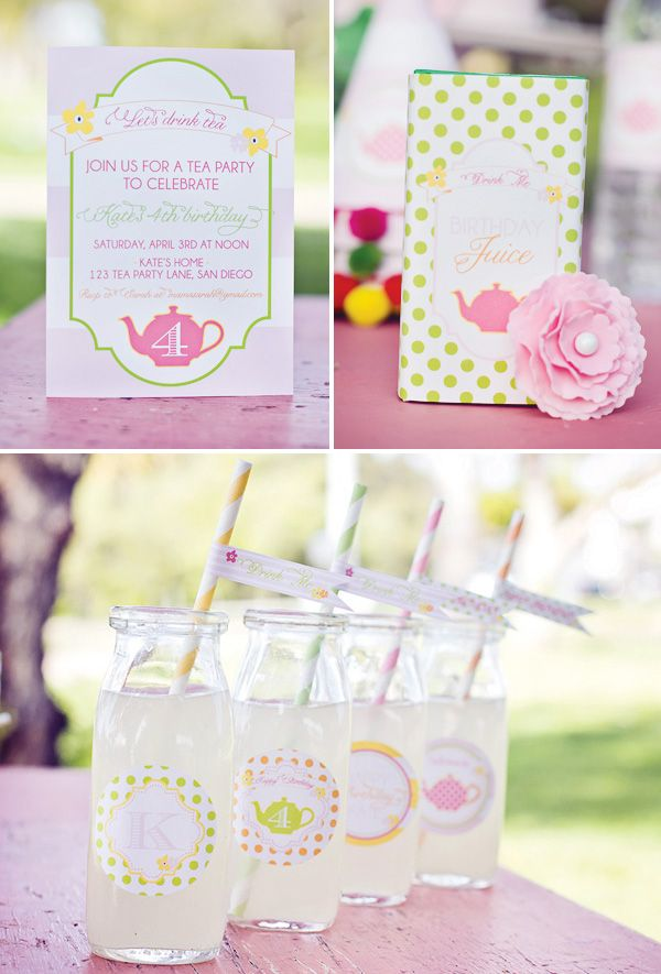 Fun tea party for little girls - food and decor