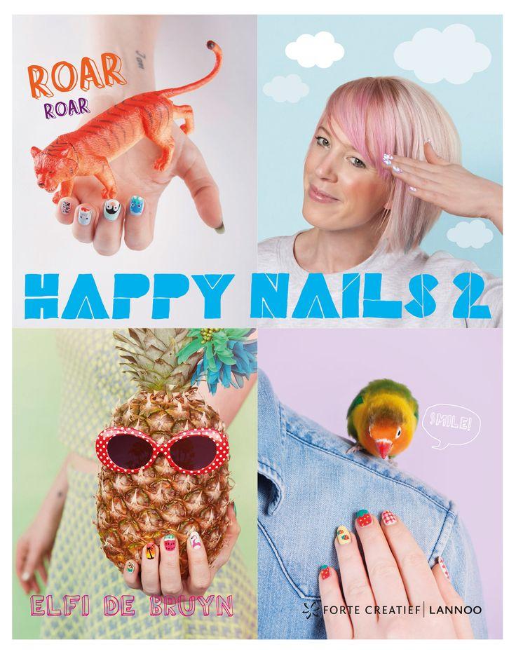 Nail art is een echt (fashion) statement geworden. In haar tweede boek, Happy Nails 2, dompelt Elfi je helemaal onder in haar wondere nail art wereld. Ze deelt handige tips & tricks, toont je hoe je nagels er in een handomdraai perfect kunnen uitzien en hoeje met enkele simpele tools leuke technieken kunt creeren. Van de basisverzorging, do's & don'ts tot de waanzinnigste en mooiste nagelontwerpen... je kunt het zo gek niet bedenken of het staat erin! Cartoonnagels, 3D-legonagels, ...