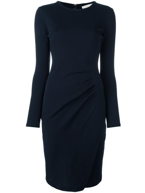 Stylist:  Would be better with a V-Neck.  And not in black!  But I like the ruching and shape.